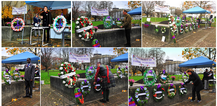 Wreaths for memorial